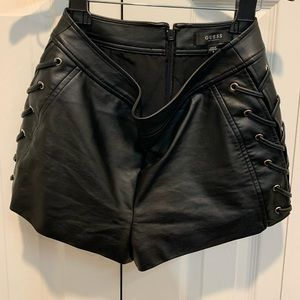 Guess leather shorts